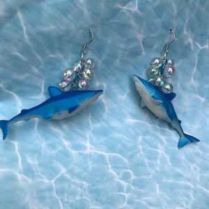 Shark bubble water ocean open water 💦 earrings